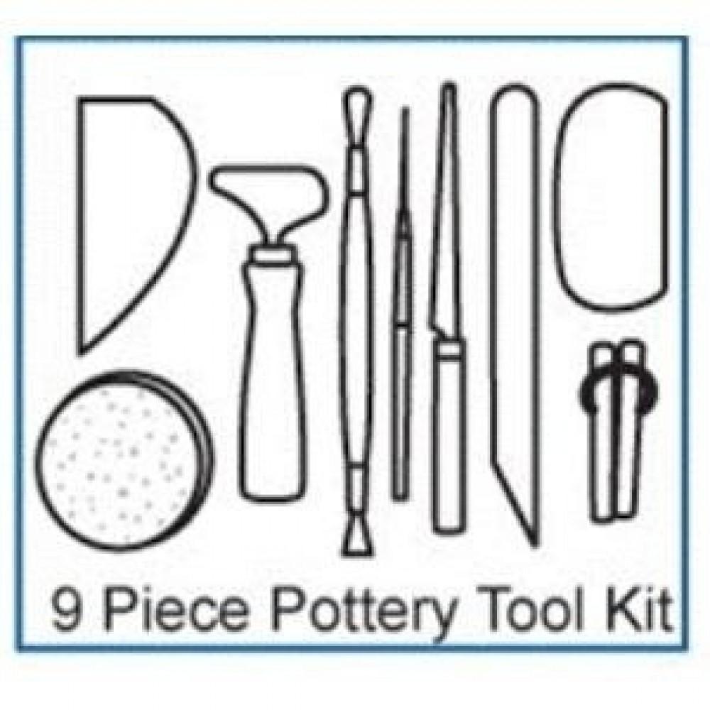 Bargain 9 pc. Pottery Tool Kit